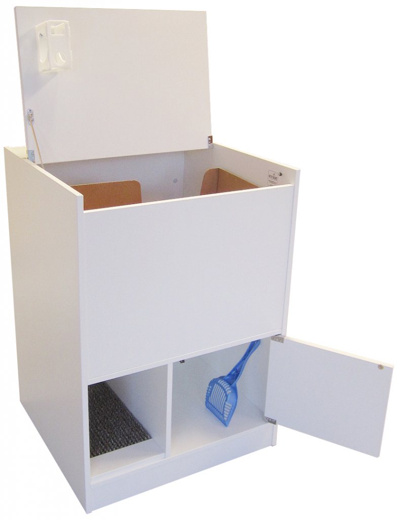 Image of White  sc 1 st  Outofsightlitterbox & Hidden Litter Box|Out of Sight Litter Box