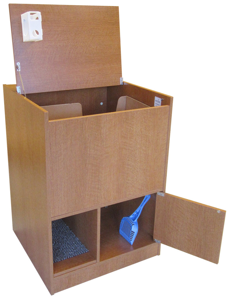 Hidden Litter Box:Out of Sight Litter Box