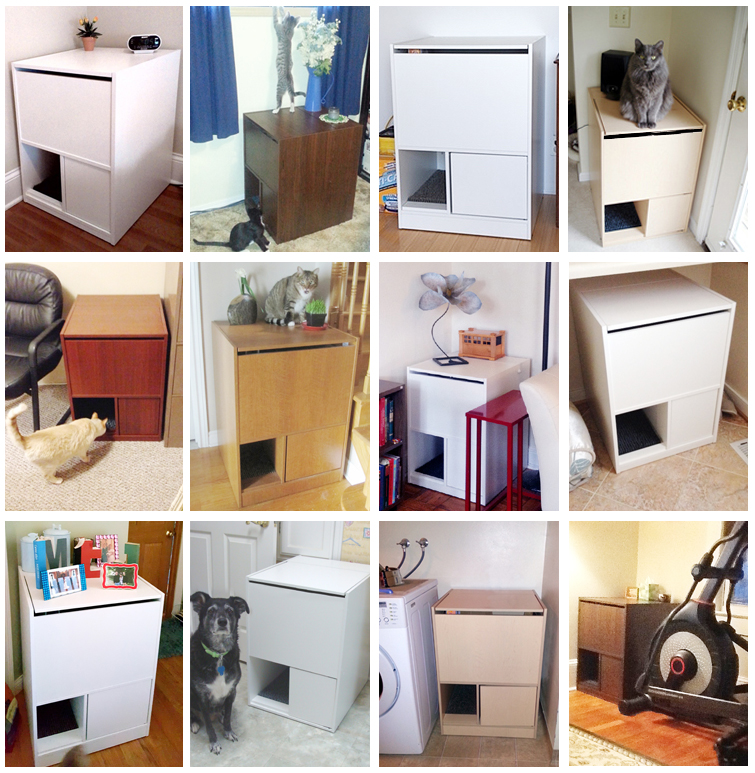out of sight litter box cabinets